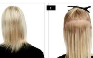 Горячее наращивание волос фото