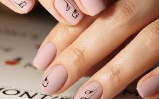 Светлый маникюр на коротких ногтях гель