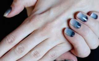 Бежевый градиент на ногтях