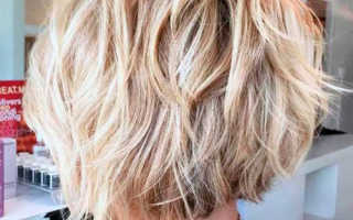 Каре на средний волос