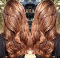 Красивый карамельный цвет волос