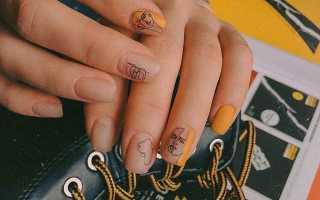 Школьный маникюр для подростков на короткие ногти