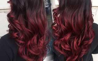 Красный цвет волос на короткие волосы