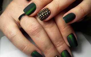 Фото маникюра зеленого цвета гель лак
