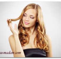 Кудри на концах волос