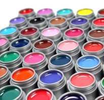 Гелевые краски для ногтей