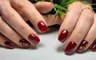 Вишневые ногти фото