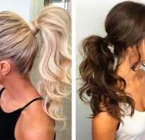 Красивые хвостики на средние волосы